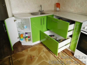 Кухня : ул. Лазурная, 58 (выполнено на заказ)