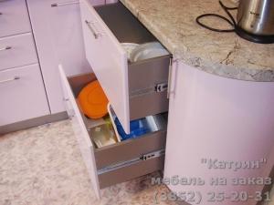 Кухня : ул. Лазурная 52 (выполнено на заказ)