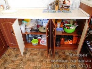 Кухня : поселок Авиатор, ул. Декоративная (выполнено на заказ)